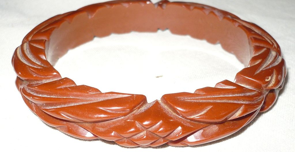 Bakelite Deep Carved Bracelet