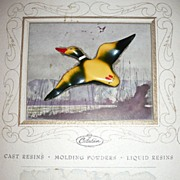 Catalin Co. Advertisement and Bakelite  Duck Pin