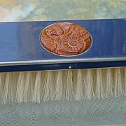 Bakelite & Metal Clothes Brush