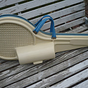 Vintage  Tennis Racquet & Ball Case