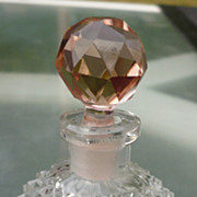 Czech Cut Crystal Perfume Bottle