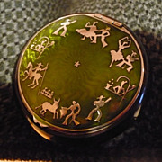 Sterling Guilloche Spanish Theme Compact