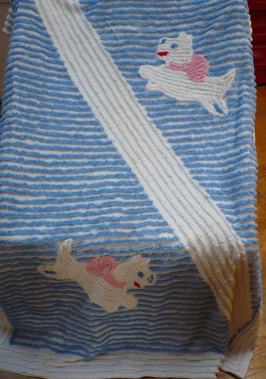 Childs Chenille Dog Blanket Cover/Spread