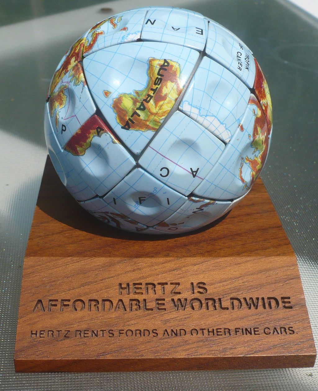 Hertz Globe Puzzle Ball Advertising
