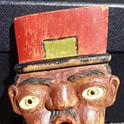 Black Americana Folk Art Wood Carving