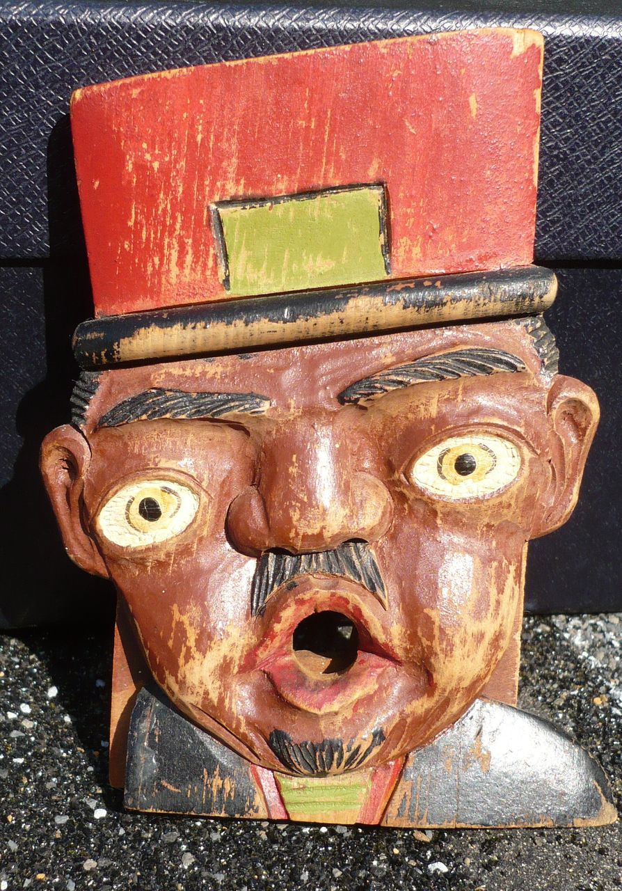 Black Americana Folk Art Wood Carving