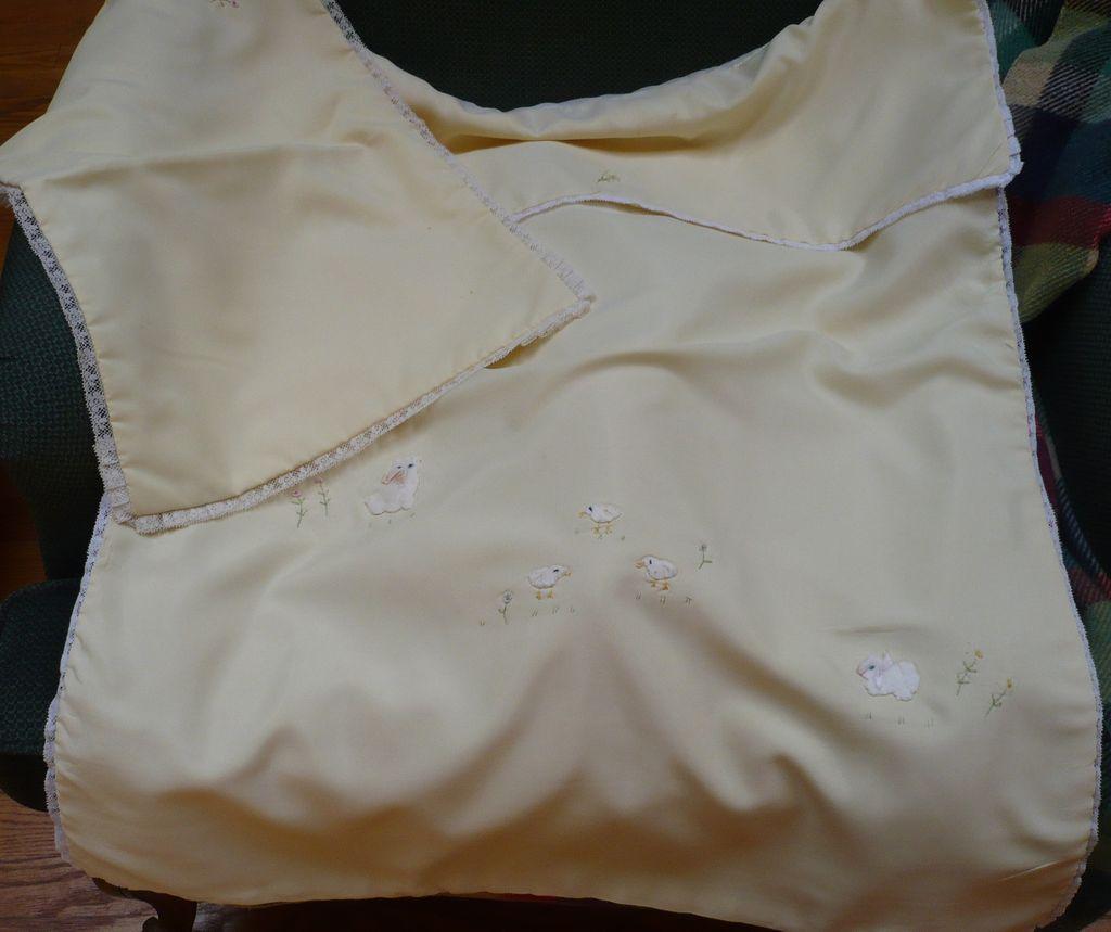 Vintage Baby Blanket  and  Sham