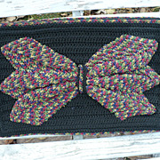 Vintage Large Crochet Bow Purse
