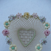 Belleek Floral Heart Dish