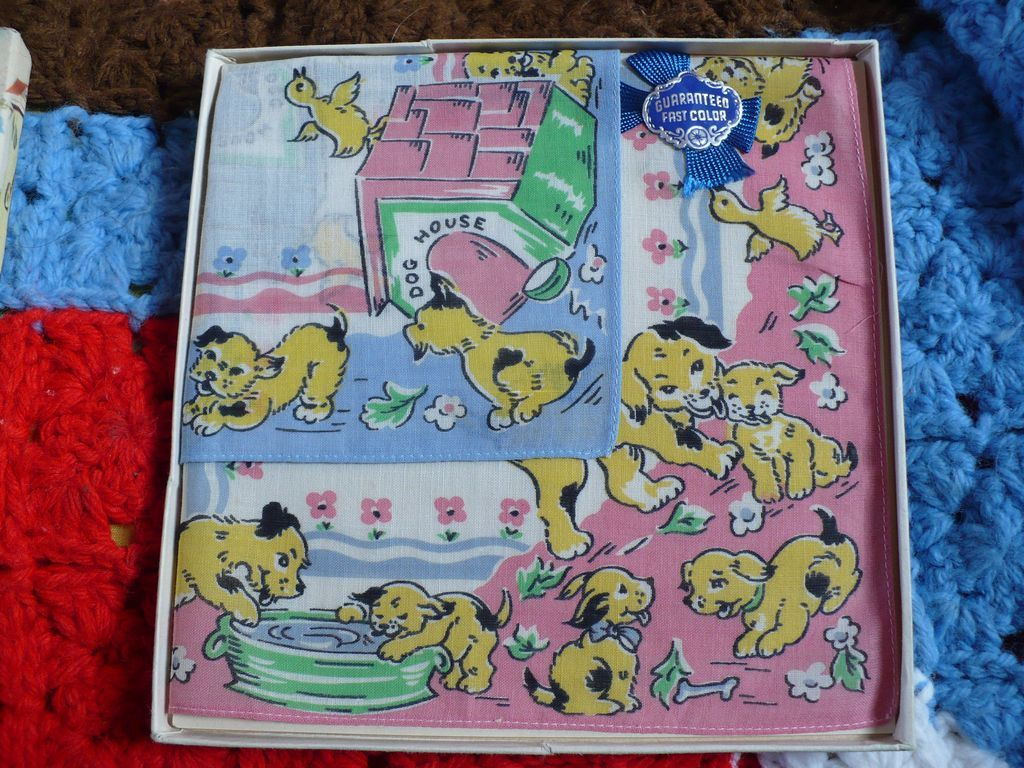 Childrens Handkerchiefs Original Box