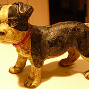 Hubley Boston Terrier Puppy Cast Iron Figure