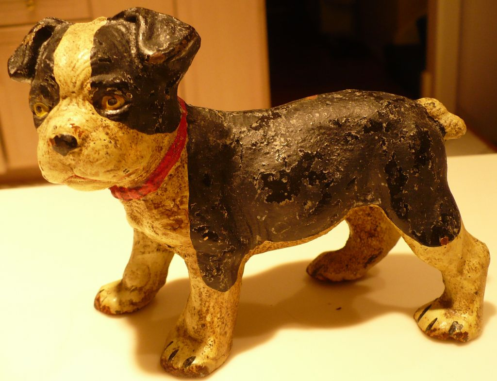 Hubley Boston Terrier Puppy Cast Iron Figure