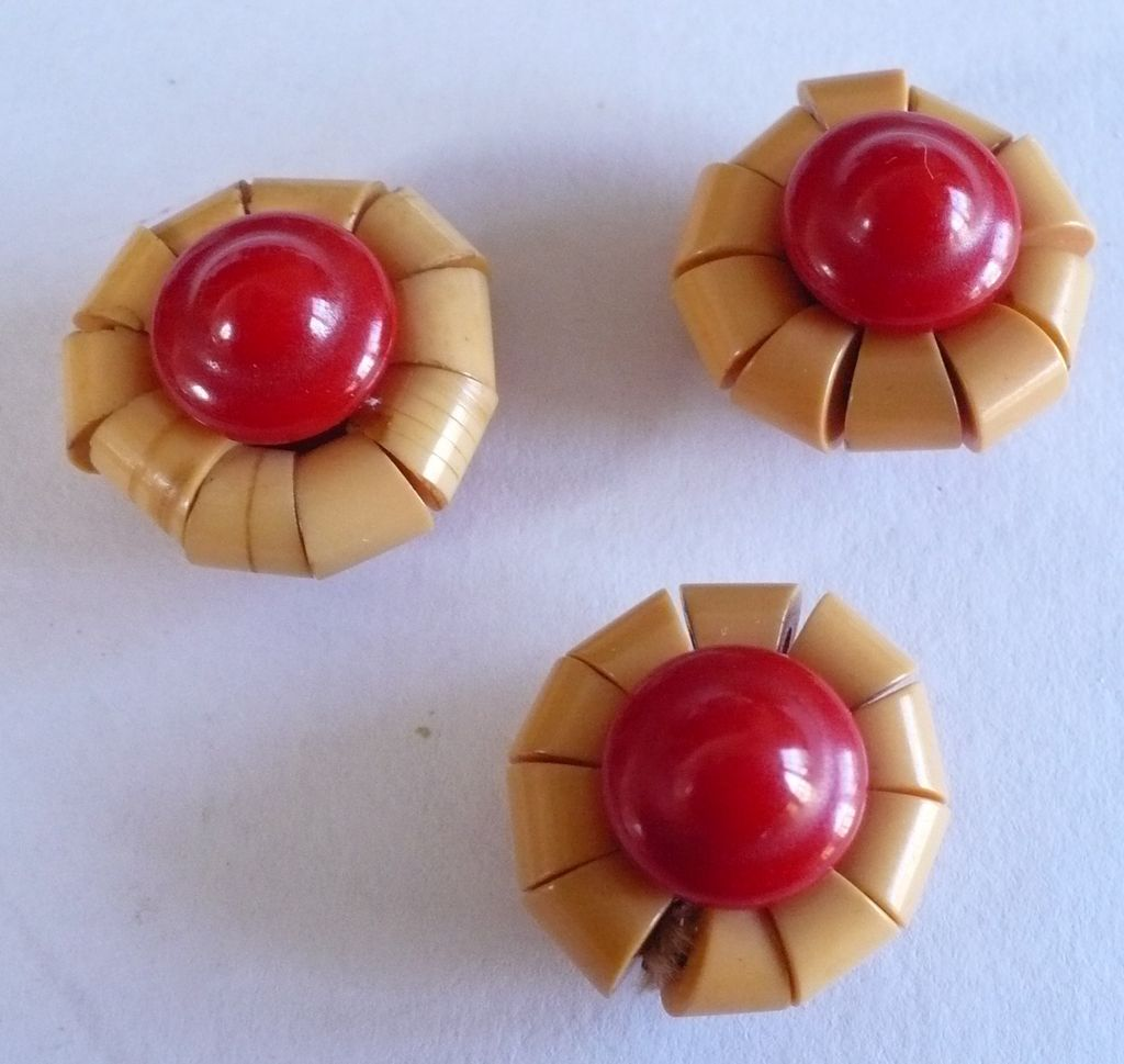 Unusual Two Part Bakelite Buttons