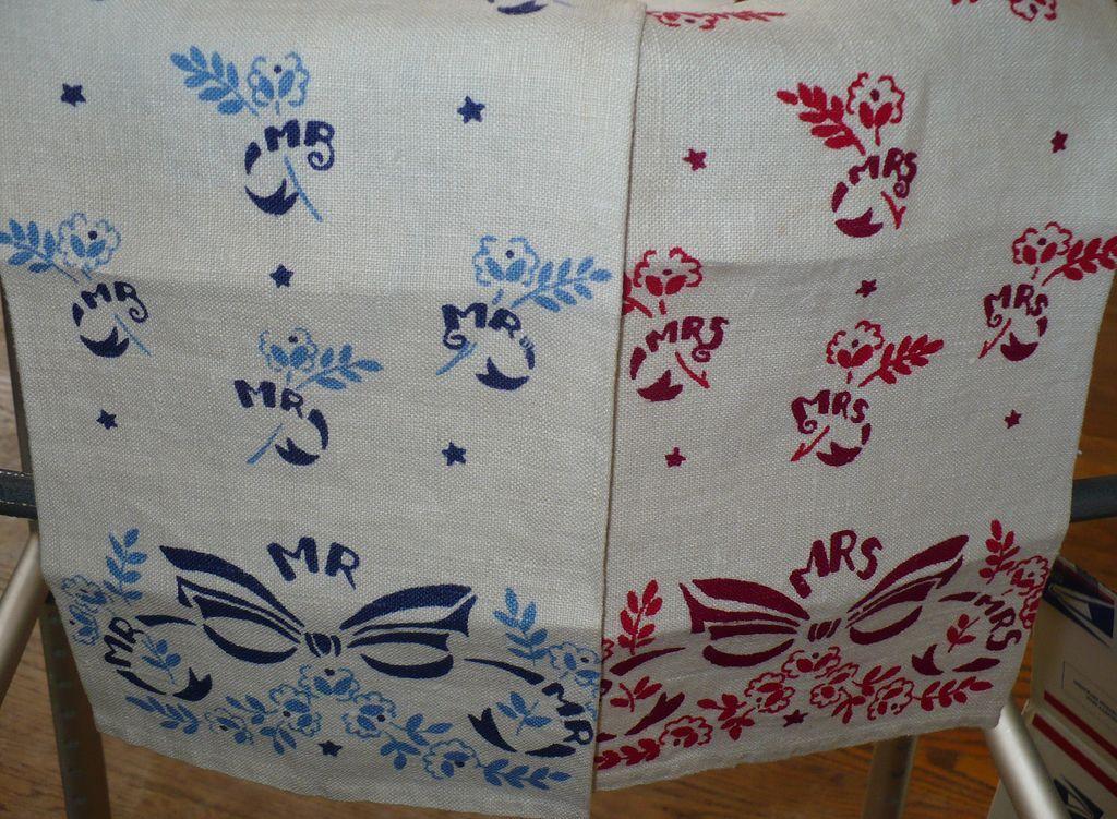 Mr & Mrs Printed Towels