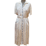 1940's Print Dress