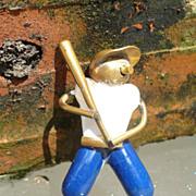 Vintage Metal Baseball Player Pin