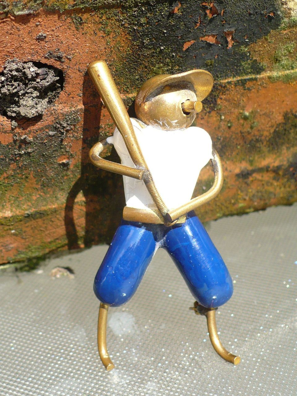 Vintage Metal Baseball Player Pin