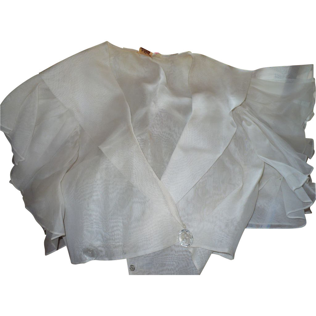 Organdy Ruffled Shrug Top