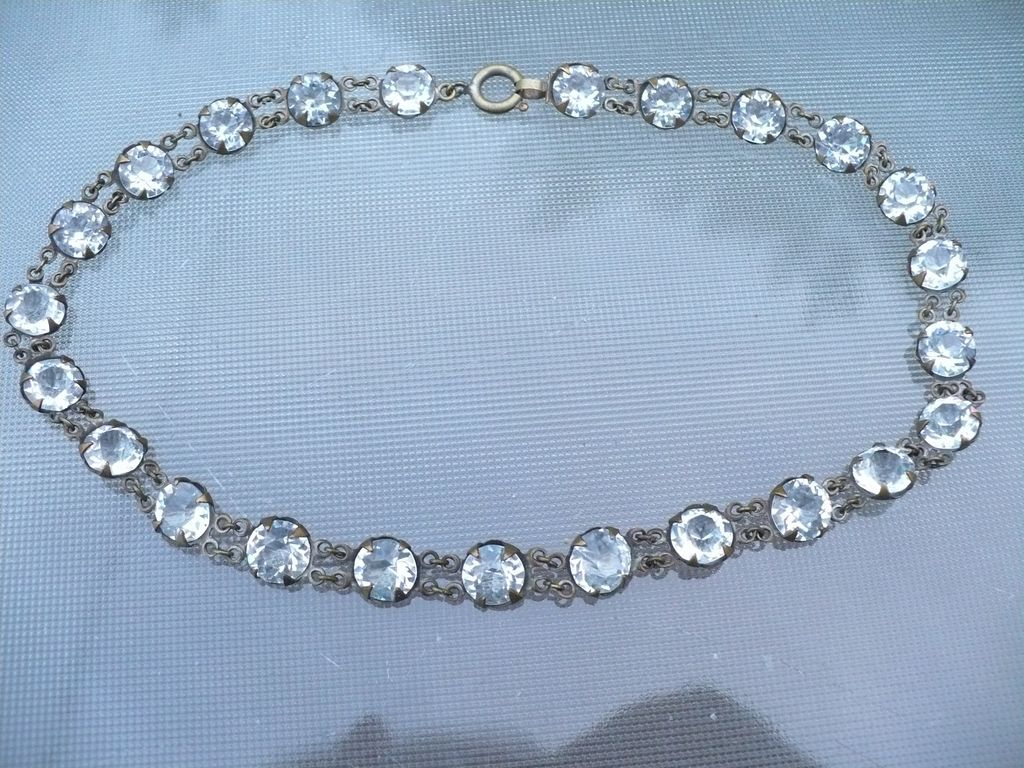 Open Back Crystal Necklace