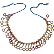 Rainbow Lucite Beaded Necklace