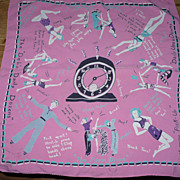 Whimsical 1940's Vintage Exercise Scarf