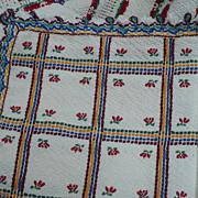 Woven Folk Art Tablecloth