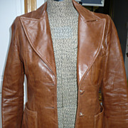 1970's Ladies Leather Blazer