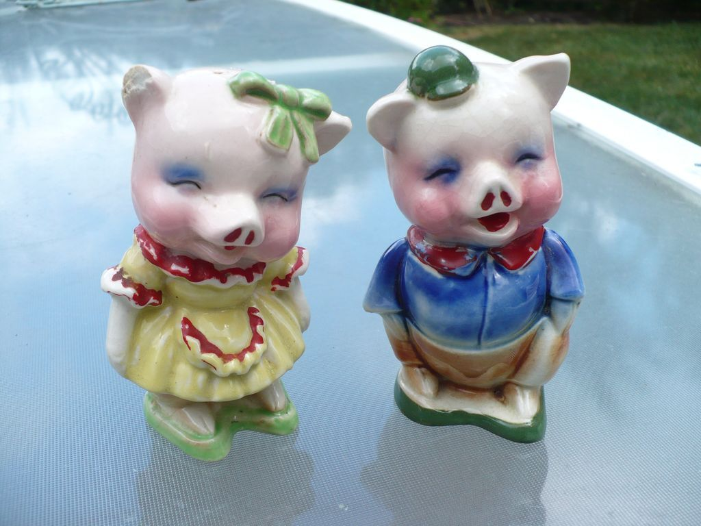 Boy & Girl Pig Salt & Pepper