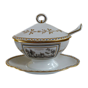 Richard Ginori Covered Dish with Spoon