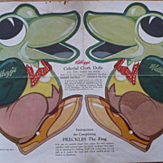 Kellogg's 1935 Freckles the Frog Doll Pattern