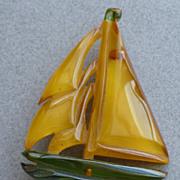 Bakelite Boat Pin