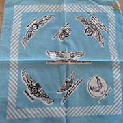 Army Air Force Rank Insignia Handkerchief