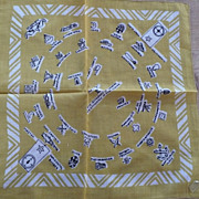 US Navy Insignia Rank Handkerchief World War 2