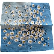 Linen Daisy Handkerchief by Marielle