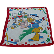 Disney Donald Nephews Handkerchief