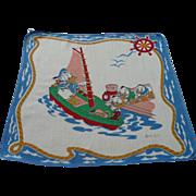 Disney Donald Nephews in Boat