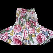 1950's Floral Skirt Swing