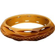 Deep Carved Bakelite Bracelet