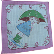 Child's Handkerchief Umbrella Girl