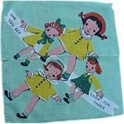 Triplets  Child's Handkerchief