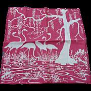 Flamingo Water Handkerchief