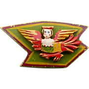 Winged Woman Bakelite Pin