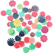 Celluloid Buttons Group of 49