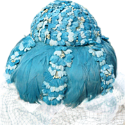 Sally Victor Hat Feathers & Flowers