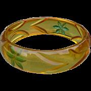 Applejuice Floral Bakelite Bracelet