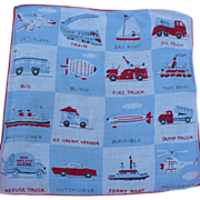 Transportation Child's Handkerchief