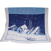 Boat Dock Linen Tablecloth