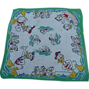 Donald Duck Nephews Handkerchief