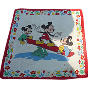 Mickey Mouse Seesaw Handkerchief