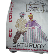 Embroidered Saturday Towel